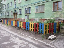Новая ограда придомовой территории, ул. Генерала Фролова дом 3